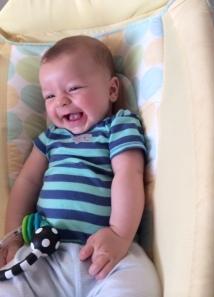 laughing e